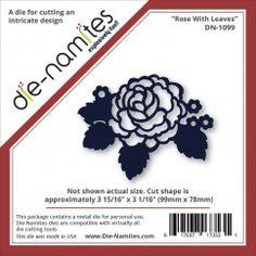 """Die-Namites Die-Rose W/Leaves, 3.937""""X3.062""""DN1099"""