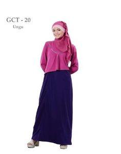 Baju Gamis  Wanita  Ethica GCT 20 Ungu