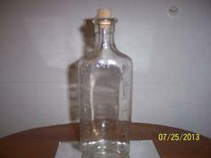 Medicine Bottle Vintage Glass Iodine Bottle HOUSEHOLD FASHION Jar rich cobalt glass bottle is four sided with vertical ribbed detail by NAESBARGINBASEMENT for $4.00