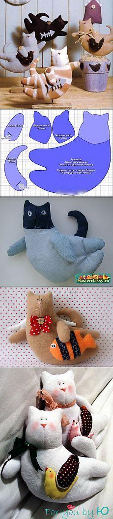 Куклы Тильда! Летящие коты — самое стильное украшение дома!!! Мастер-класс и очень-очень много идей!