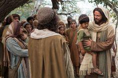 Jesus invites the children to come to Him.