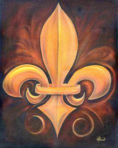 {Fleur de Lis} #symbols #FleurdeLis #art