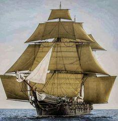 Tall Ships, Sailing Ships, Sailor, Boats, 18th, Travel, Luxury Yachts, Wooden Crafts, Historia