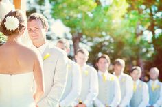 Vow To Be True     ~     An interesting way to get the entire bridal party's reaction, not just the groom's/bride's, as he recites his vows.