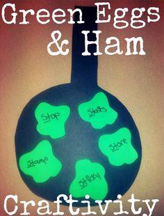 Rock Chalk Speech Talk: Green Eggs & Ham craftivity for Dr. Seuss week in speech therapy!