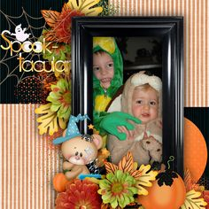 Trick or Treat by Norma, using Lil TOTS. Sooo cute!  #SnickerdoodleDesigns