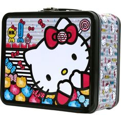 643608c00a Hello Kitty Metal Tin Lunch Box Candy Hello Kitty Characters