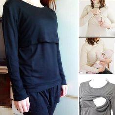 Пижама с длинным рукавом для беременных и кормящих мамочек