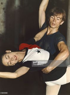 Rudolf Noureev And Margot Fonteyn. Rudolf NOUREEV dansant avec Margot FONTEYN à Monte-Carlo.