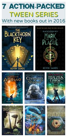 7 Action-Packed Tween Series With New Books Out in Introduction by Author of The Blackthorn Key Series, Kevin Sands Ya Books, Library Books, Good Books, Library Lessons, Books For Tween Girls, Books For Tweens, Elissa, Middle School Books, Kids Reading