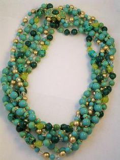 Versatile Signed Joa fashion love new jewelry trend Antique Jewelry, Beaded Jewelry, Vintage Jewelry, Beaded Necklace, Jewelry Box, Jewlery, Necklaces, Fashion Necklace, Fashion Jewelry