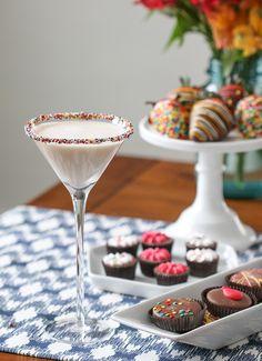 Birthday Cake Martini | From @inspiredbycharm