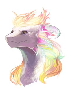 """Draw Creatures omg fabulous rainbow dragon >>> uhhh I think this is a dragon version of """"Hyperdeath"""" Asriel from Undertale Cute Fantasy Creatures, Mythical Creatures Art, Mythological Creatures, Magical Creatures, Cute Animal Drawings, Cute Drawings, Wolf Drawings, Drawing Sketches, Dragon Drawings"""