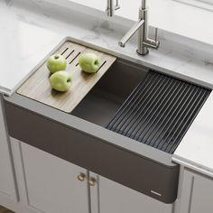 12 Granite Quartz Composite Kitchen Sinks Ideas In 2021 Kraus Sink Composite Kitchen Sinks