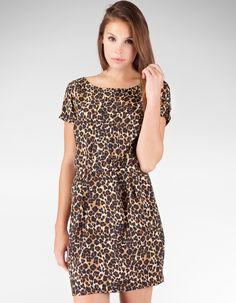 Animal print dress - want!