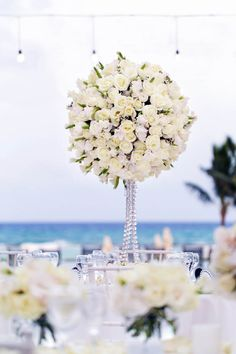Luxe all white weddi