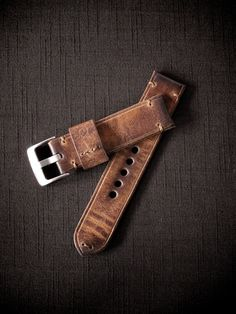 """This is """"Monaco"""" our resplendent cognac handmade leather watch strap. Made in Australia."""