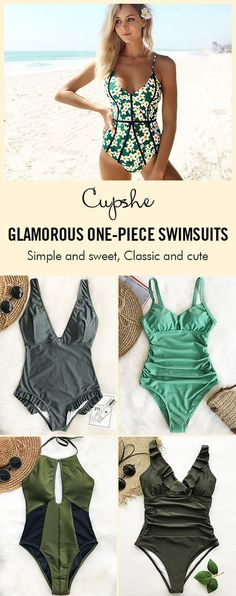 Glamorous One-piece Swimsuits Collection! The one-piece collection celebrates the female form while providing fashion-forward comfort and control. Go ahead, be fabulous. Just protect yourself. FREE shipping & Check now.