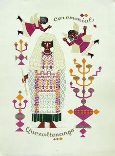Trajes Indígenas de Guatemala, Carlos Mérida. Traje ceremonial Quetzaltenango.