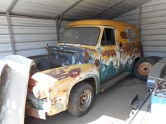 56 Ford Truck, Old Cars, Rust, Van, Delivery, Tools, American, Vehicles, Model