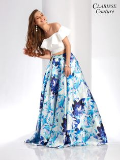 Off shoulder mikado A-line dress with pockets, beading, and open back.ÿAnd it's at Rsvp Prom and Pageant, your source for the HOTTEST Prom and Pageant Dresses! Floral Prom Dresses, Pageant Dresses, Dance Dresses, Homecoming Dresses, Cute Dresses, Casual Dresses, Fashion Dresses, Formal Dresses, Dress Prom
