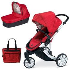 Britax U291778KIT1 B-Scene Stroller and Bassinett with Diaper Bag - Red (Baby Product) http://www.amazon.com/dp/B004MNBQKE/?tag=mnnean-20 B004MNBQKE