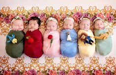 Una mamá hada madrina real transformó a 6 pequeñas en princesas de Disney