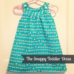 tutorial for dress version of Pretty Prudent´s Snappy Toddler Top (free pattern)