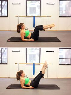 Pilates move for flat abs: can-can corkscrew Pilates Moves, Pilates Body, Pilates Training, Pilates Video, Pilates For Beginners, Beginner Pilates, Pop Pilates, Beginner Workouts, Pilates Reformer