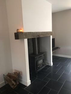 Inglenook Fireplace, Fireplace Mantle, Fireplace Surrounds, Wood Burner, Cabins And Cottages, Interior Inspiration, Kitchen Design, New Homes, Living Room
