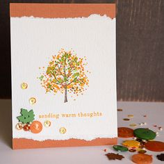 Fall card by May Flaum using 28 Lilac Lane embellishments