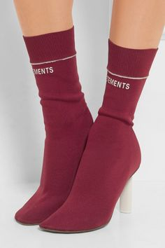 Heel measures approximately 60mm/ 2.5 inches Claret jersey Pull on Made in Italy.........I like this!