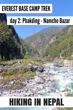 Hiking to Everest Base Camp day from Phakding to the Himalay town of Namche Bazar Mount Everest Base Camp, Everest Base Camp Trek, Nepal Culture, Camping Spots, Camping Tips, Nepal Trekking, Asia Travel, Travel Nepal, Outdoor Woman