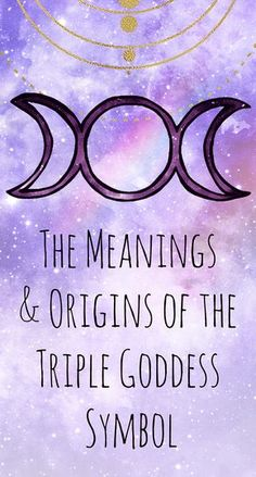 The Meanings & Origins of the Triple Goddess Symbol – virgo constellation tattoo Goddess Meaning, Goddess Symbols, Moon Meaning, Moon Symbols, Celtic Goddess, Symbols And Meanings, Celtic Mythology, Roman Mythology, Greek Mythology