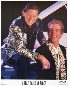 Jerry Lee Lewis & Dennis Quaid as 'Jerry Lee Lewis' in Great Balls of Fire (1989)