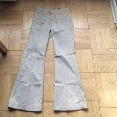 7 for all mankind beige seersucker jeans / slacks 7 for all mankind beige seersucker jeans / slacks. Worn once. Not shortened. Perfect condition.  97 % Cotton and elastane for slight stretch in fabric. 7 for all Mankind Pants