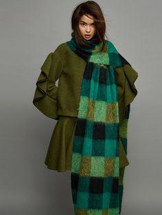 【Serendipper】Awaylee 14AW 军绿色荷叶边袖上衣-淘宝网