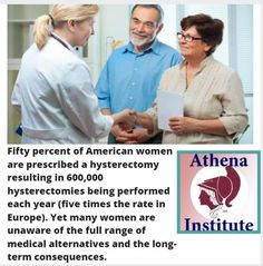 This research explains the risks of hysterectomy for 50% of American women! https://athenainstitute.com/hysterectomy.html