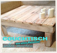 de Make coffee table from pallets itself … - Pallet Furniture Ideas Coffee Table 2019, Made Coffee Table, Coffee Table Design, Wicker Furniture, Pallet Furniture, Furniture Plans, Coffee Table Out Of Pallets, Pallet Tables, Round Metal Side Table