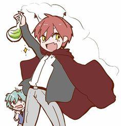 Devil karma Karma Kun, Nagisa And Karma, Assassination Classroom Funny, Okuda, Handsome Anime Guys, My Children, Gifs, Kawaii, Cute
