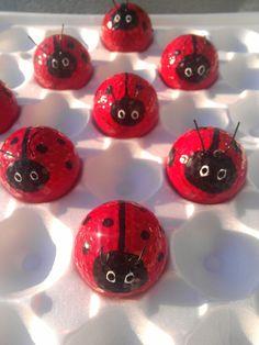 Golf ball lady bugs.