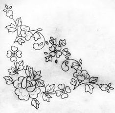 pattern for Bauernmalerei Folk Embroidery, Hand Embroidery Designs, Cross Stitch Embroidery, Applique Patterns, Quilt Patterns, Ribbon Embroidery Tutorial, Art Drawings Sketches Simple, Motif Floral, Stitch Design