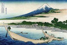 Shore of Tago Bay, Ejiri at Tokaido, by Katsushika Hokusai