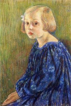 Portrait of Elizabeth van Rysselberghe - Theo van Rysselberghe