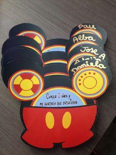 Invitaciones personalizadas, Mickey Mouse