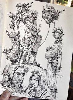 Ian McQue Sketches Collection