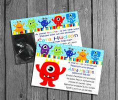 Little Monster Baby Shower Invitation No Pic/Big by SweetPeaPrintz, $7.50