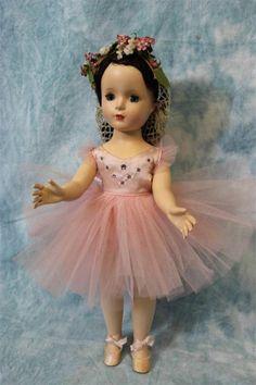"15"" Alexander Margaret #1550 MARGOT BALLERINA Doll c1955 Hard Plastic Walker EX"