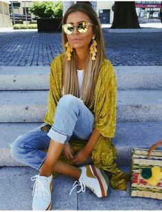 Yellow kimono.