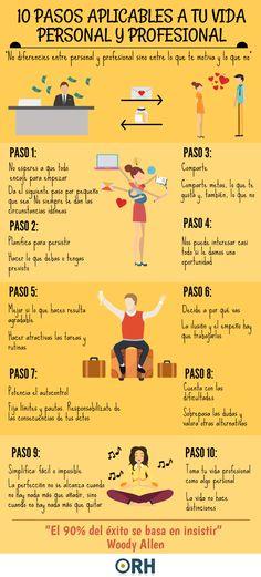10 pasos aplicables a tu vida personal y profesional #empleo #rrhh #recursoshumanos